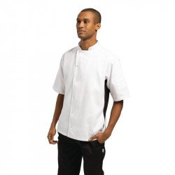 Nevada Chefs Jacket White with Black Contrast - Size S WHITES CHEFS APPAREL Nisbets Vêtements