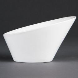 Lot de 4 bols L 133 x H 90 x P 154 mm - ovales / inclinés - porcelaine OLYMPIA Collection Whiteware