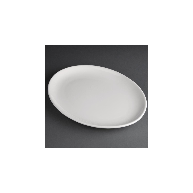 Lot de 12 assiettes creuses 254 x 197 mm - ovales - porcelaine - Hotelware ATHENA HOTELWARE Attente Alex