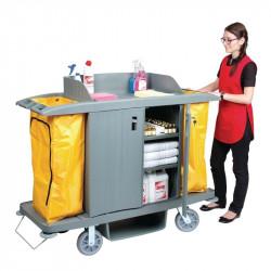 Chariot de nettoyage avec portes - 1540x540x1285mm JANTEX Chariots de nettoyage et service