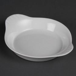 Lot de 6 plats ronds 40(H) x 192(L) x 151(P)mm à oreilles, en porcelaine, OLYMPIA OLYMPIA Plats