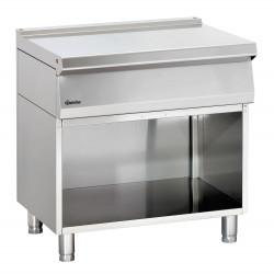 Élément de travail (L) 800 x (P) 700 mm + soubassement ouvert, inox Bartscher Tables sur placard