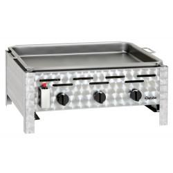 Gril table gaz combi, 3 brûleurs Bartscher Grills - Charcoals