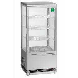 Mini vitrine réfrigérée 78L, argent Bartscher Vitrines XL