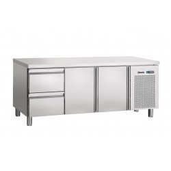 Table réfrigérée L 1792 x P 700 mm - 2 tiroirs GN1/1 - 2 portes  Bartscher Tables et soubassements