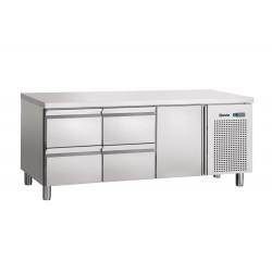 Table réfrigérée L 1792 x P 700 mm - 4 tiroirs GN 1/1 - 1 porte  Bartscher Tables et soubassements