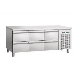 Table réfrigérée L 1792 x P 700 mm - 6 tiroirs GN 1/1  Bartscher Tables et soubassements
