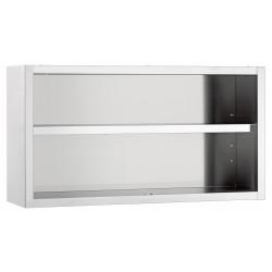 Armoire suspendue ouverte, H 660 x P 400 mm, inox Bartscher Placards muraux