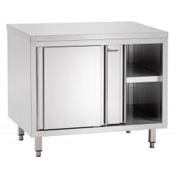 Meuble neutre, portes coulissantes, inox Bartscher Tables sur placard