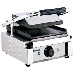 Grill panini lisse - L 290 x P 395 x H 210 mm - 1800 W - inox Bartscher Paninis