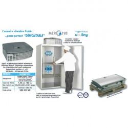 Chambre de stockage réfrigérée positive H 2000 x P 995 x L 935 mm Mercatus Chambres froides positives