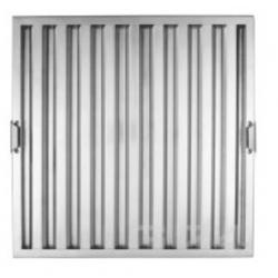 Filtre choc en inox L 500 x H 500 x P 25 mm EQUIPEMENT DIRECT Filtres de hottes