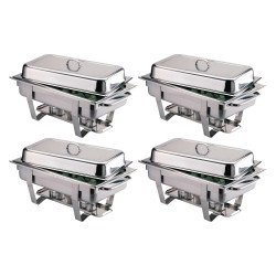 Lot de 4 Chafing dish Milan multipack 4 pièces inox OLYMPIA Chafing Dish