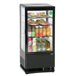 Mini vitrine réfrigérée 78 Litres - noir Bartscher Vitrines réfrigérées à poser