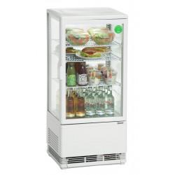 Mini vitrine réfrigérée 78 L, blanche Bartscher Vitrines Verticales