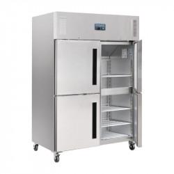 Armoire réfrigérée 1200 Litres positive double 4 portillons GN 2/1 inox POLAR Armoires positives (+1°C+6°C)