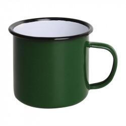 (lot de 6) Mug en acier émaillé vert et noir 350 ml OLYMPIA Collection Acier émaillé Enamel