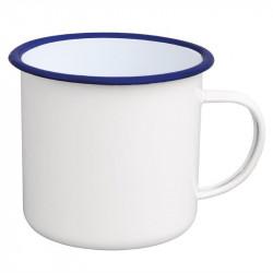 (lot de 6) Grand mug à soupe en acier émaillé 670ml OLYMPIA Collection Acier émaillé Enamel