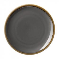 Lot de 6 assiettes plates 'grise' Kiln Ø230mm OLYMPIA Collection Kiln