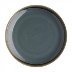 Lot de 6 assiettes plates 'océan' Kiln Ø230mm OLYMPIA Collection Kiln