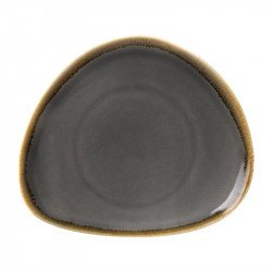 Lot de 4 assiettes Ø280mm triangulaires 'grise' Kiln OLYMPIA Collection Kiln