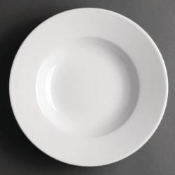 Lot de 6 assiettes à potage Ø 228mm - porcelaine - Hotelware ATHENA HOTELWARE Attente Alex