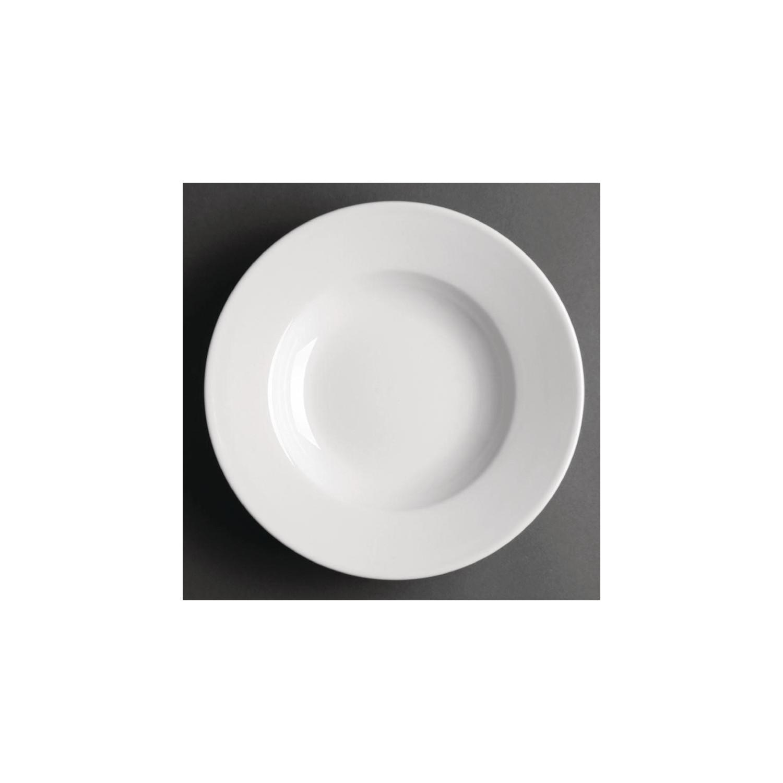 Lot de 6 assiettes à soupes / pâtes Ø 228mm en porcelaine, OLYMPIA ATHENA HOTELWARE Assiettes