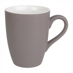 Lot de 6 mugs 320ml gris Brighton porcelaine OLYMPIA Collection Brighton