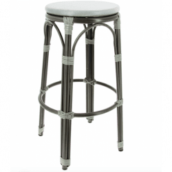 Lot de 2 tabourets de bar 'Biarritz' en aluminium, gris clair EQUIPEMENT DIRECT Tabourets