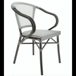 Lot de 2 fauteuils 'Biarritz' en aluminium, gris EQUIPEMENT DIRECT Fauteuils