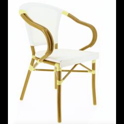 Lot de 2 fauteuils 'Biarritz' en aluminium, blanc EQUIPEMENT DIRECT Fauteuils