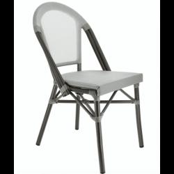 Lot de 2 chaises 'Biarritz' en aluminium, gris EQUIPEMENT DIRECT Chaises