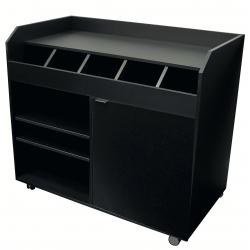 Vaisselier de brasserie bas (H) 980 mm en bois aggloméré, noir EQUIPEMENT DIRECT Vaisseliers et dessertes
