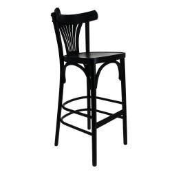 Lot de 2 chaises de bar 'New Orléans' en hêtre massif, noir EQUIPEMENT DIRECT Chaises