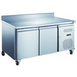 Table 282 Litres réfrigérée 2 portes + dosseret inox AFI Collin Lucy Tables et soubassements
