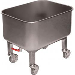Cuve roulante 80 L + robinet de vidange, inox L2G Cuves roulantes