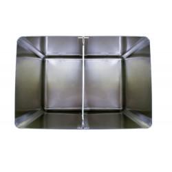 Bac à sel / farine 130 L avec couvercle amovible, inox L2G Cuves roulantes