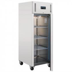 Réfrigérateur PRO 1 porte tout inox 650 litres Tropicalisé POLAR Armoires positives (+1°C+6°C)