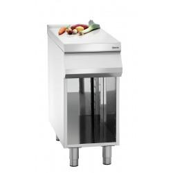 Élément de travail (L) 400 x (P) 900 mm + soubassement ouvert, inox Bartscher Tables sur placard