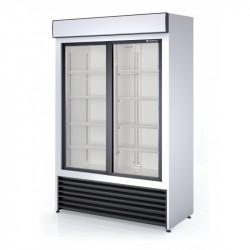 Armoire positive 1000 L - 2 portes vitrées coulissantes Coreco Armoires vitrées