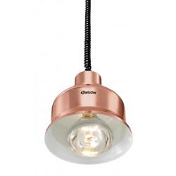 Lampe chauffante 250 W pendulaire - Cuivre brillant Bartscher Rampes chauffantes