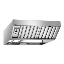 Hotte motorisée à condensation, 370 W, à 2 filtres, inox, à fixer Bartscher Hottes