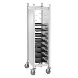 Chariot à plateaux, 10 x GN 1/1, aluminium Bartscher Petit déjeuner