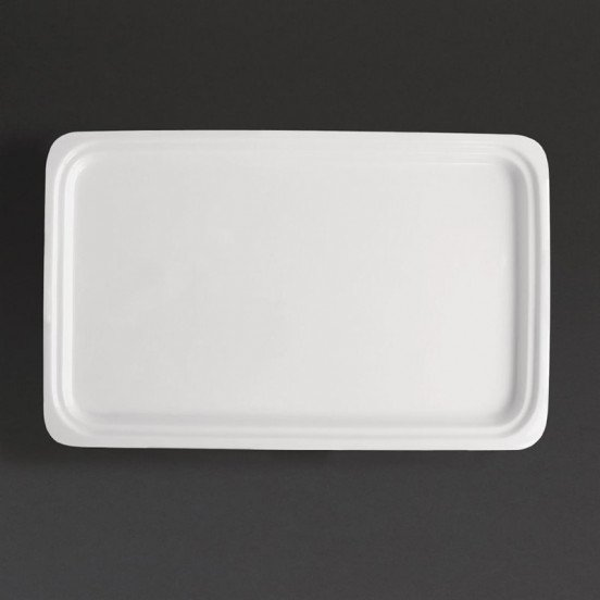 Plat blanc GN 1/1 - (P) 30 mm - porcelaine  OLYMPIA Collection Whiteware