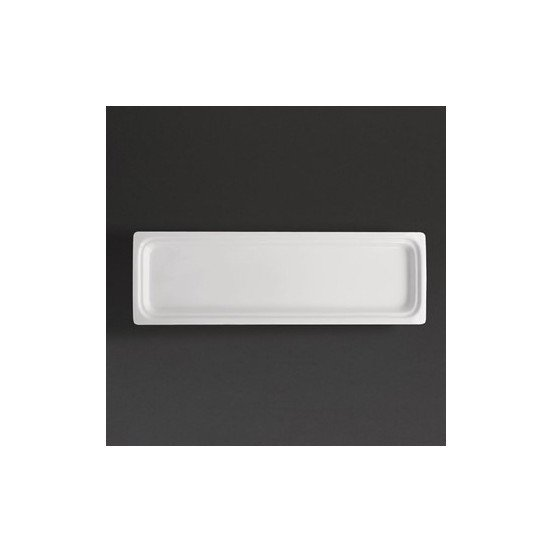 Plat blanc GN 2/4 - P 30 mm - porcelaine OLYMPIA Collection Whiteware