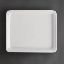 Plat blanc GN 1/2 - P 30 mm - porcelaine OLYMPIA Collection Whiteware