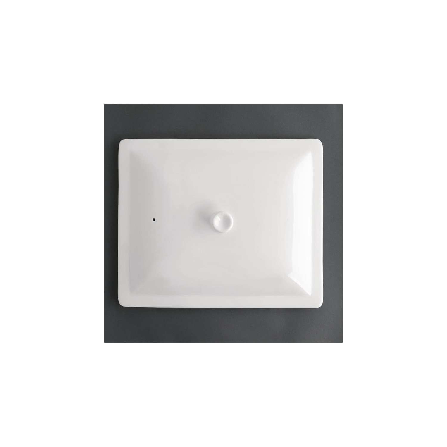 Couvercle blanc GN 1/2 - porcelaine OLYMPIA Collection Whiteware