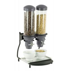 Distributeur de céréales 2 x 3 Litres - hermétique CASSELIN Distributeurs de céréales