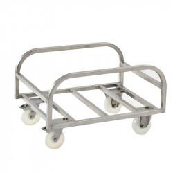 Chariot support pour grand bac 170 Litres, inox, GILAC Gilac Bacs de transport