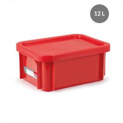 """Bac """"plat témoin"""" 12 Litres + couvercle - rouge Gilac Bacs petits volumes"""